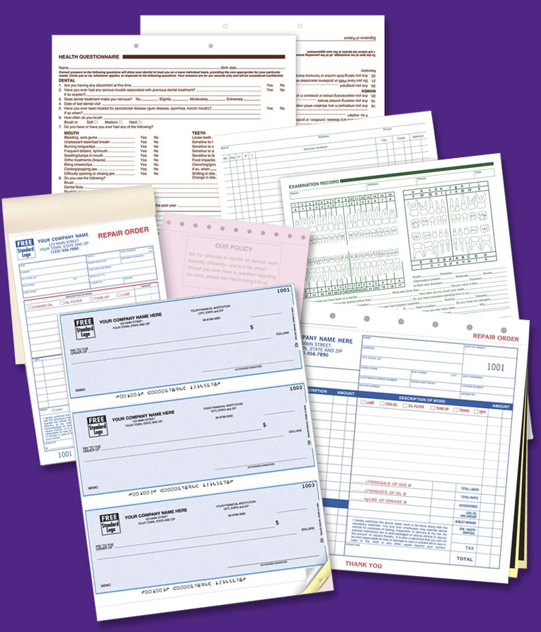 Custom Printed Business Forms