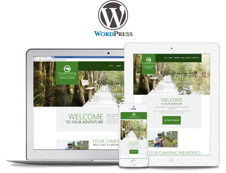 lizard creek website design