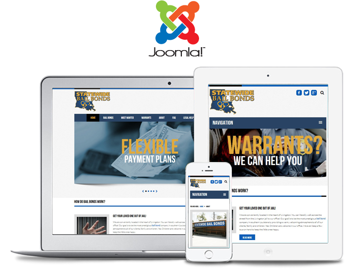 statewide bail mobile website design